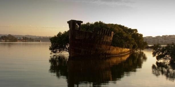 4. Los restos del SS Ayrfield en Homebush Bay, Australia