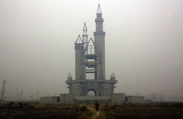 5. El Parque de Atracciones Wonderland abandonado en las afueras de Pekín, China