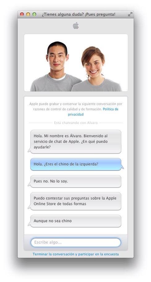 Chat Apple Store